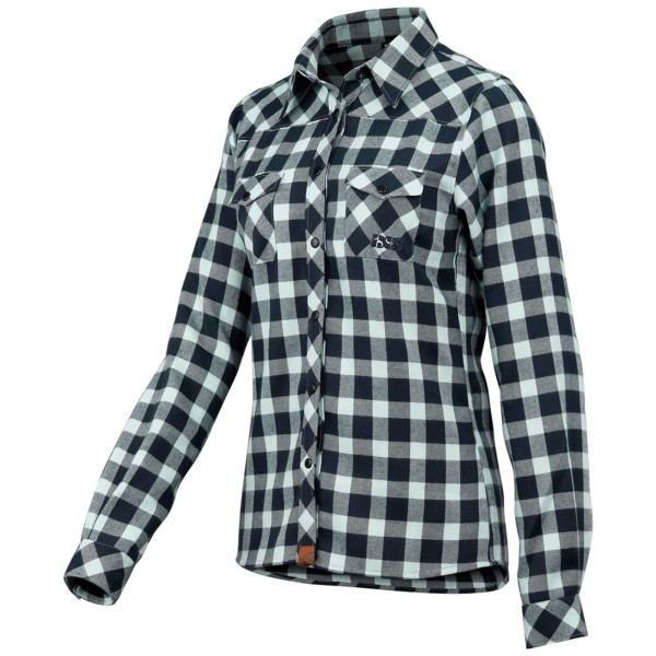 Escapee Women Flannel Hemd marine-celeste