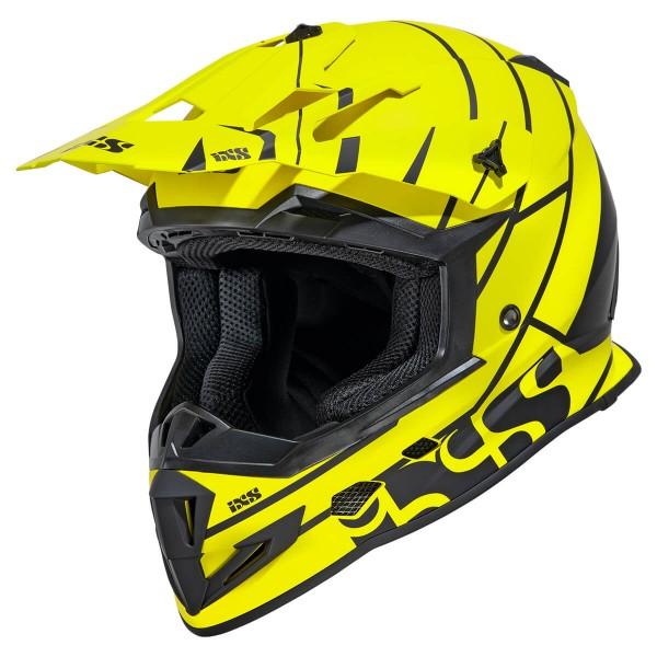 Motocrosshelm iXS361 2.2 gelb matt-schwarz