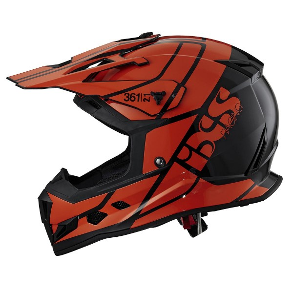 Motocrosshelm 361 2.1 schwarz-orange