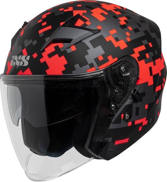Jethelm iXS99 2.0 schwarz matt-rot