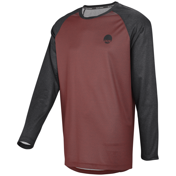 Flow long sleeve jersey night red-black