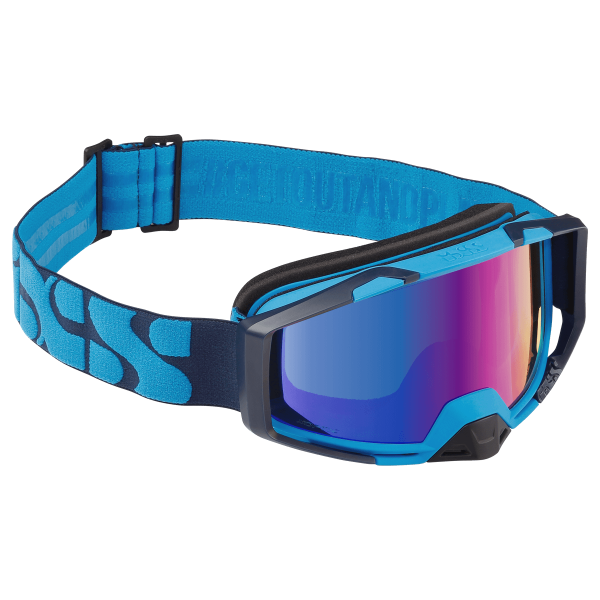 Goggle Trigger racing blue-cobalt mirror