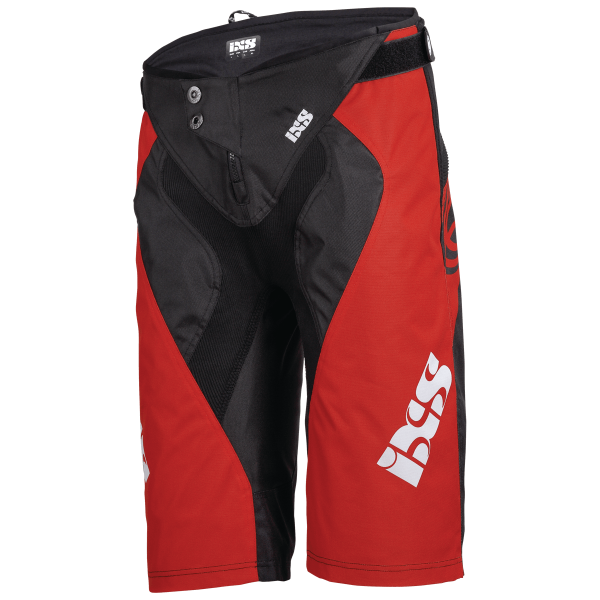 Race Shorts fluo red-schwarz