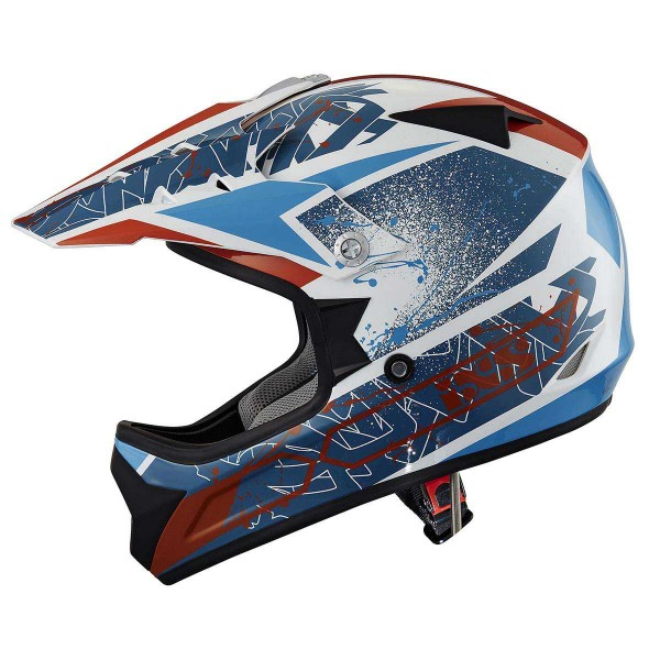 Motocrosshelm 278 KID 2.0 weiss-blau-orange