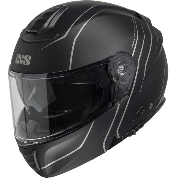 Flip Up helmet iXS460 FG 2.0 black matt-grey