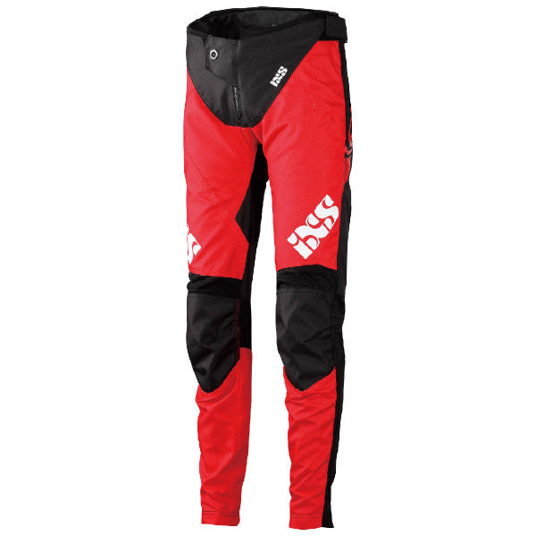 Race Kids Hosen fluo red-schwarz