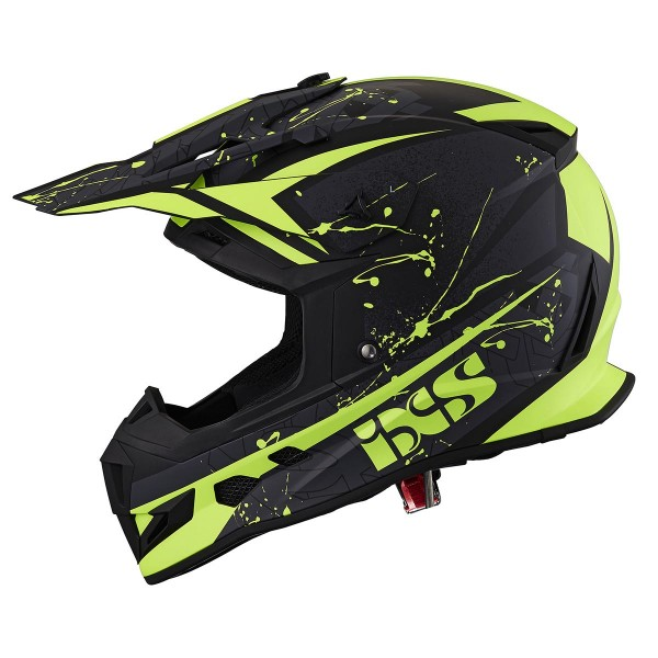 Motocrosshelm 361 2.0 schwarz matt-gelb fluo
