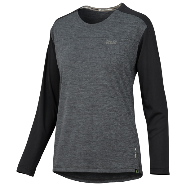 Flow X Women long sleeve Jersey graphit-solid schwarz