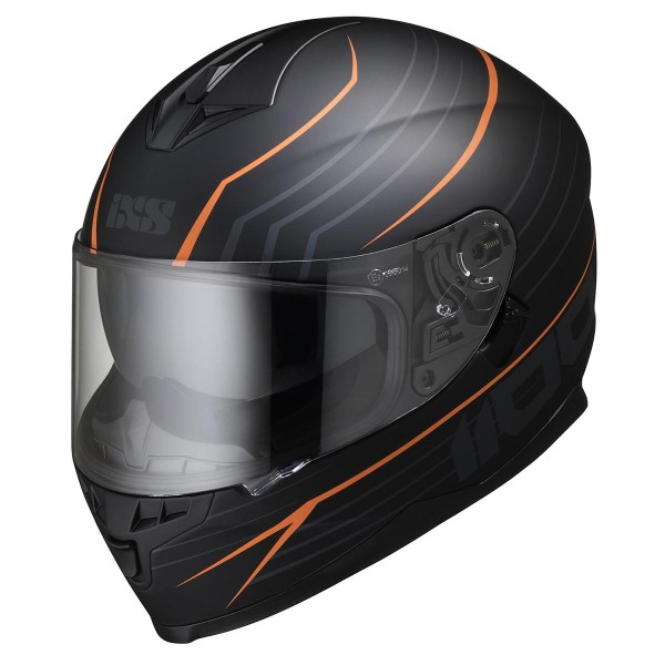 Integralhelm 1100 2.1 schwarz matt-orange