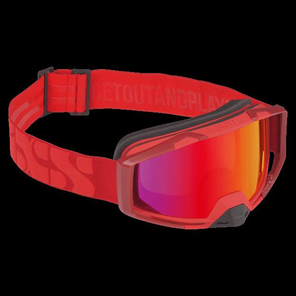 Goggle Trigger racing red-crimson mirror