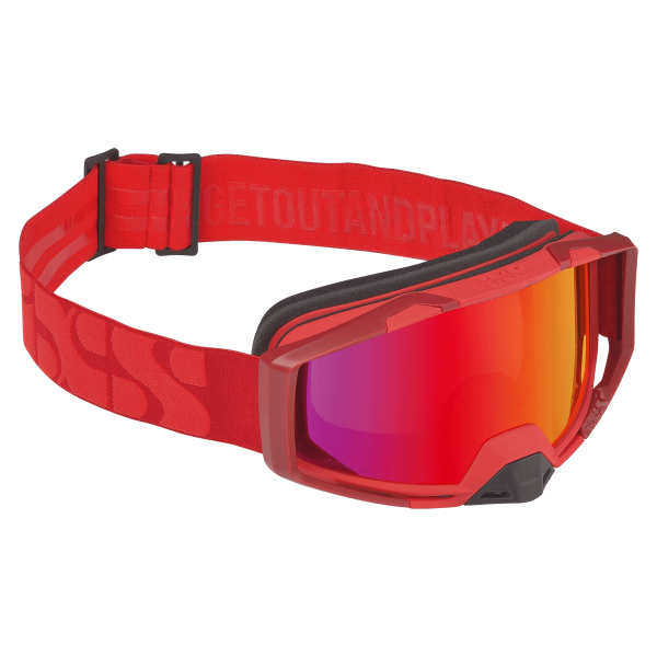 Goggle Trigger racing red-crimson mirror