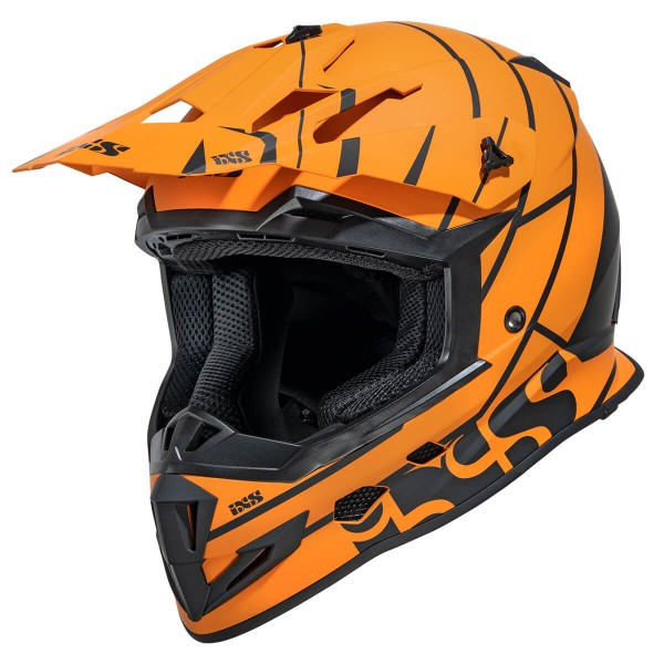 Motocrosshelm iXS361 2.2 orange matt-schwarz
