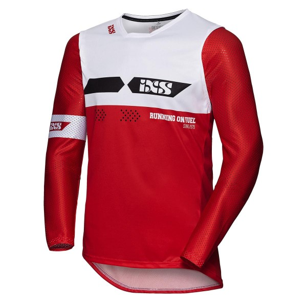 MotocrossShirt 19 2.0 Slim rot-weiss-schwarz