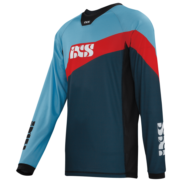 Race Jersey night blue-fluo red