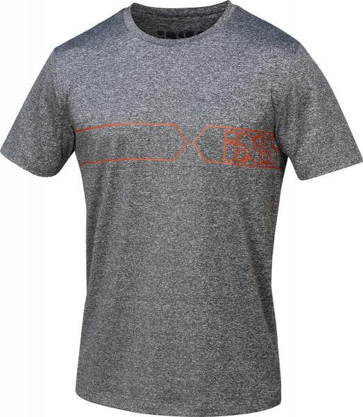 Team T-Shirt Function grau-rot