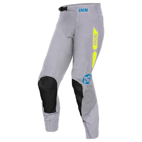 Motocross Hose 19 2.0 Stretch grau-gelb fluo