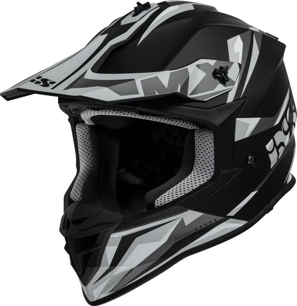 Motocrosshelm iXS362 2.0 schwarz matt-grau