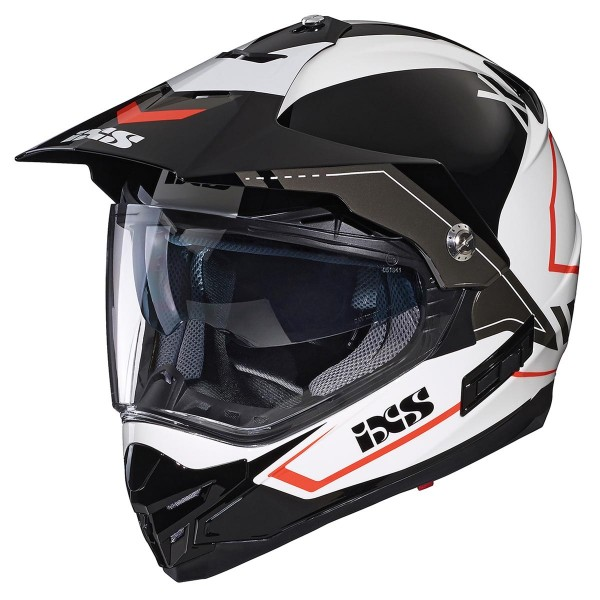 Motocross helmet 207 2.0 white-black-red