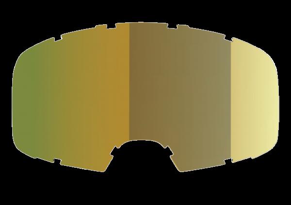 Injected Single Linse getönt Gold verspiegelt Low Profile
