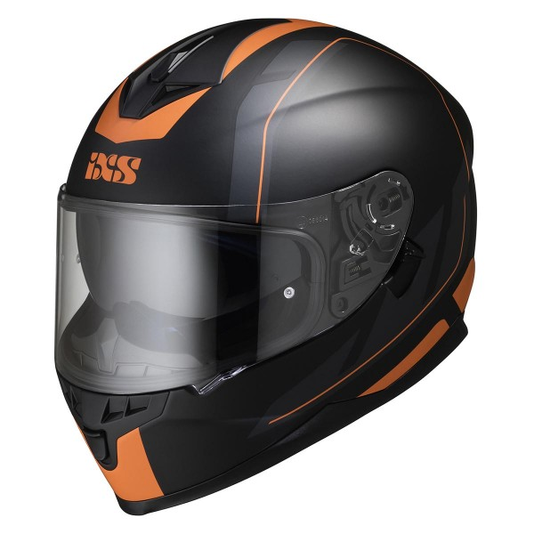 Integralhelm 1100 2.0 schwarz matt-orange